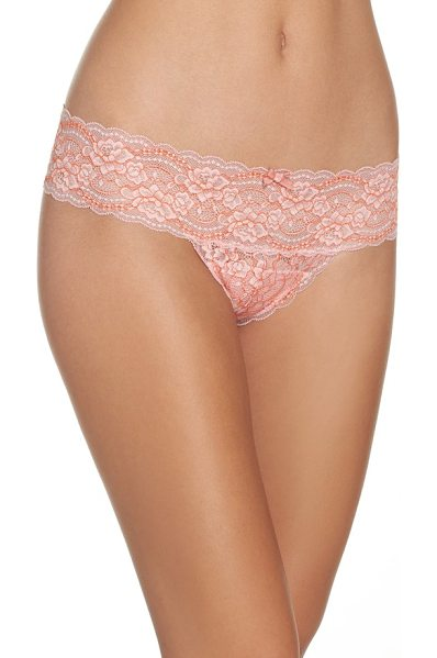 Skarlett Blue 'obsessed' lace thong in tea rose/ picante