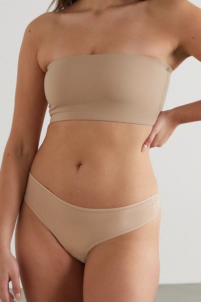 SKIMS fits everybody thong - clay in beige