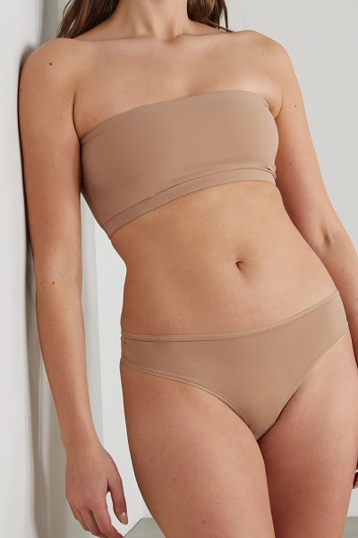 SKIMS fits everybody thong - ochre in beige