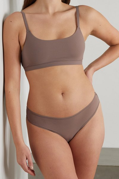 SKIMS fits everybody thong - umber in neutral