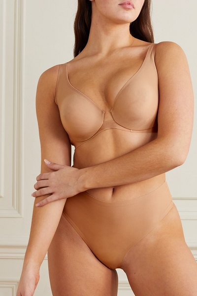 SKIMS naked plunge bra - honey in beige