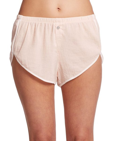 SKIN Gauzy cotton shorts in lightpink