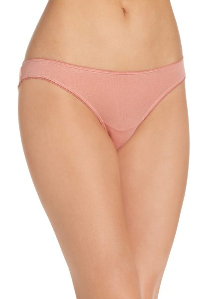SKIN organic cotton bikini in vintage pink - Supersoft and breathable cotton panties are perfect for...