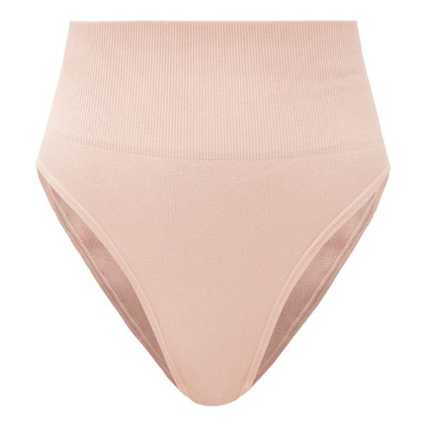 SKIN the tummy toner cotton-blend thong in pink