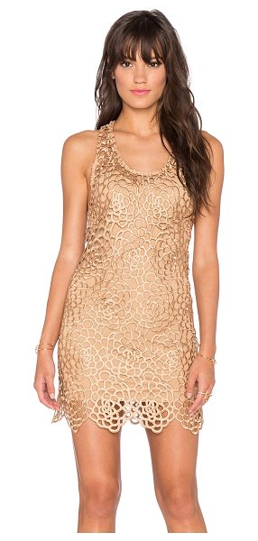 Sky Ioanna Dress in metallic gold - Self: 100% polySlip: 90% nylon 10% lycra. Hand wash...
