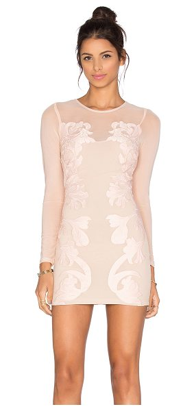 Sky Kirsi dress in blush - Self: 70% nylon 24% poly 6% elastaneEmbroidery: 100%...