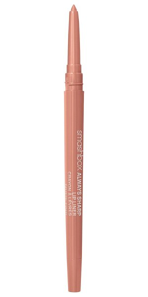 "Smashbox always sharp lip liner in nude fair - """"When I'm photographing a model with a bold lip color,..."