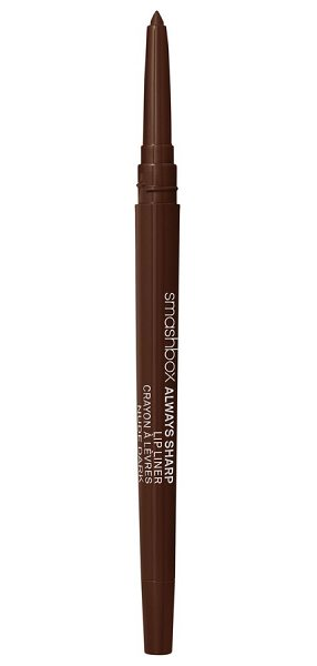 "Smashbox always sharp lip liner in nude dark - """"When I'm photographing a model with a bold lip color,..."