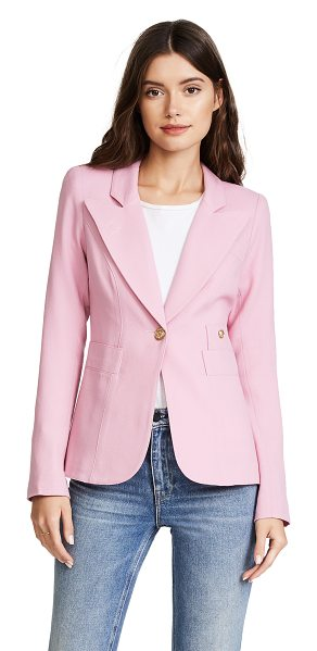 Smythe duchess blazer in rethink pink - Gold-tone buttons close the single-breasted placket and...