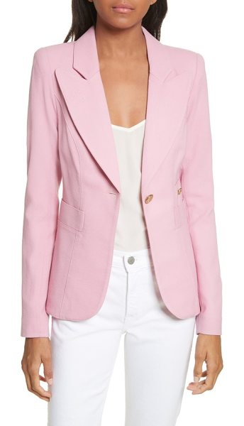 Smythe 'duchess' single button blazer in rethink pink - Wide, peaked lapels highlight a beautifully tailored...