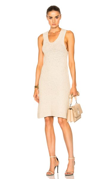 SMYTHE Handknit Tank Dress in neutrals - 100% pima cotton.  Made in Bolivia.  Dry clean only. ...