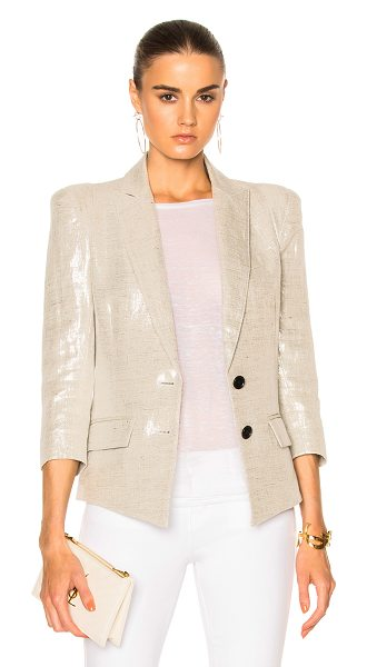 Smythe Pagoda Blazer Jacket in metallic - Self: 100% linenLining: 100% cupro. Made in Canada. Dry...