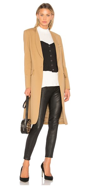 SMYTHE Skinny Lapel Coat - Cotton blend. Dry clean only. Front button closure. Side...