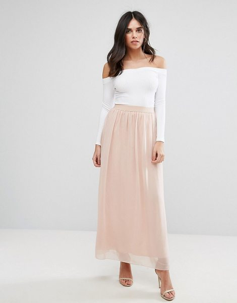 Soaked in Luxury Soaked in pink - Skirt by Soaked In Luxury, Lined chiffon, High-rise...