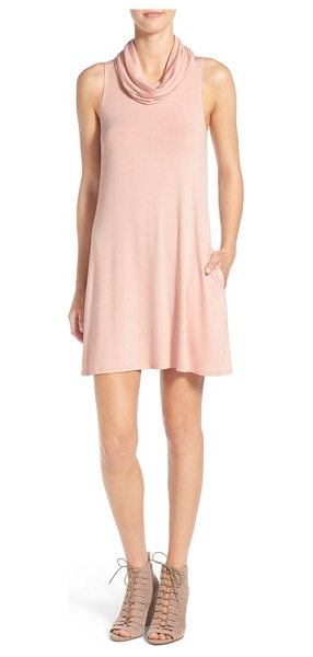 Socialite cowl neck shift dress in dusty peach - Your search for the perfect casual dress that...