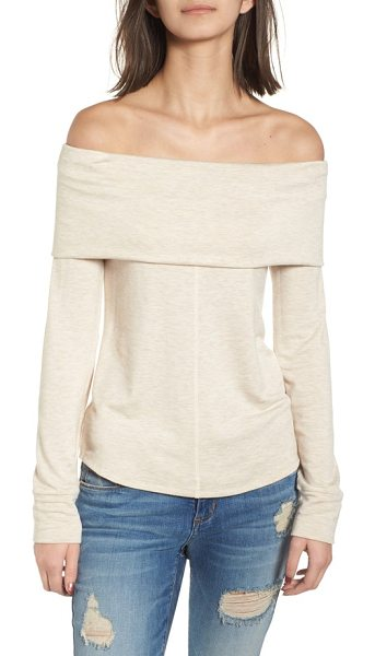 SOCIALITE foldover off the shoulder top - A fold-over panel wrapping the bust makes this...