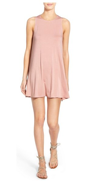 Socialite high neck dress in blush - A pair of hidden pockets adds convenience to an easy...