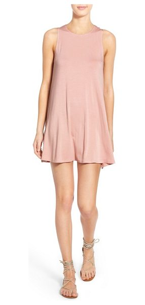 Socialite high neck dress in rose cloud - A pair of hidden pockets adds convenience to an easy...