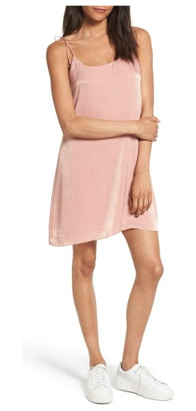 SOCIALITE satin slipdress in blush - Channel your inner '90s cool girl in a lightweight...