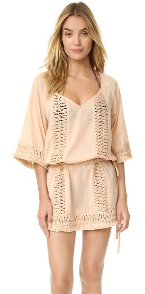 SOFIA BY VIX crochet caftan - Crocheted details reveal a peek of skin on this SOFIA by...