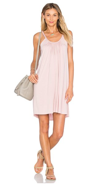 SOFT JOIE Alayne Dress - Cotton blend. Unlined. Shirred neckline with braided...
