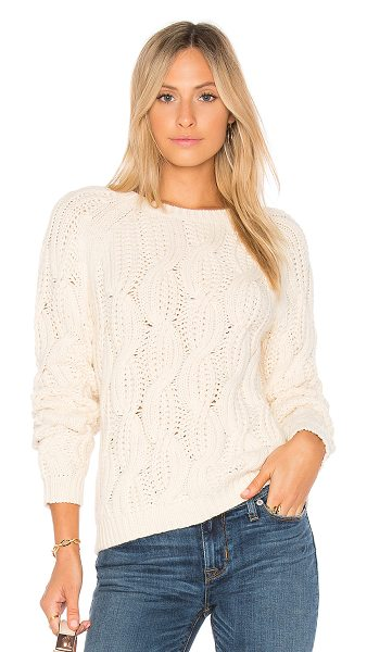 Soft Joie Candessa Sweater in cream - 60% cotton 30% nylon 10% wool. Hand wash cold. Cable...