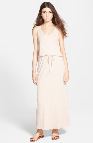 Soft Joie dimzni tank maxi dress in nude - Supersoft cotton jersey in a heathered slub knit...
