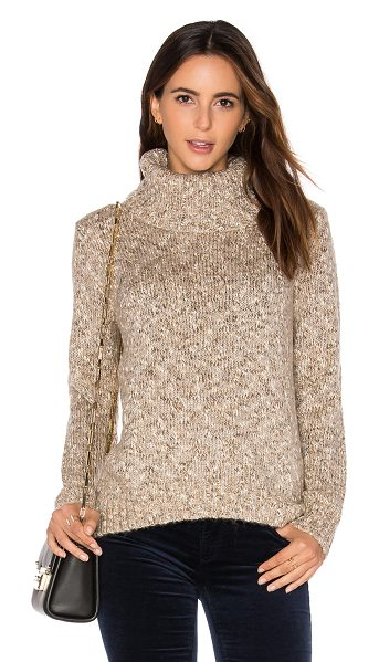 Soft Joie Farika Sweater in beige - 48% acrylic 29% cotton 22% poly 1% metallic. Dry clean...