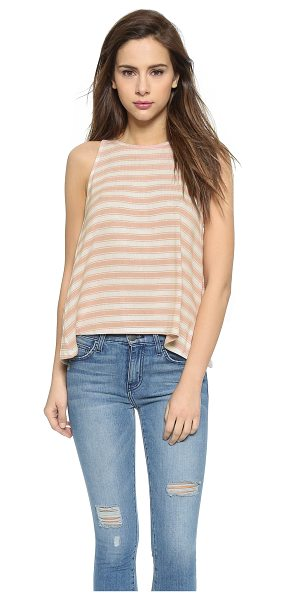 Soft Joie Phan tank in rose/porcelain - Striped fine knit composes this draped Soft Joie tank....