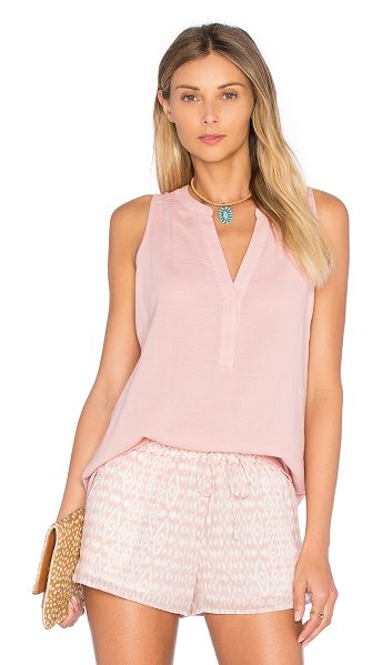 Soft Joie Verve Tank in pink - Cotton blend. Hand wash cold. Partial front button...