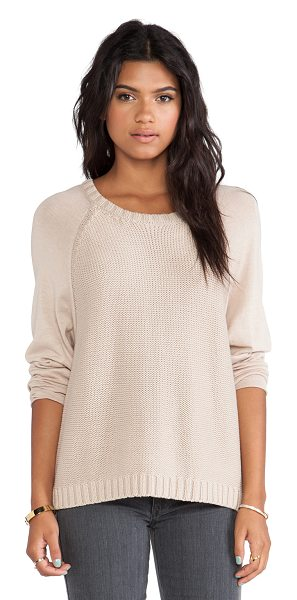 Soft Joie Weisend sweater in beige - Cotton blend. Rib knit edges. SOFT-WK50. 6530 27803. You...