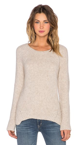 SOH Athena felted pullover sweater in beige - 85% extra fine merino wool 13% nylon 2% elastane. Hand...