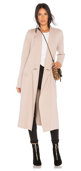 Soia & Kyo Annabelle Trench Coat in beige - 80% cotton 20% wool. Hand wash cold. Open front. Side...