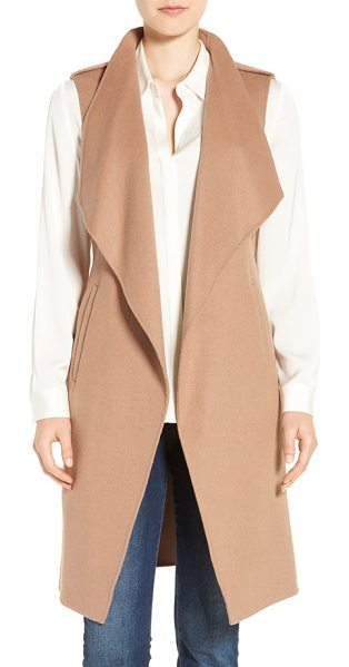 Soia & Kyo double face wool blend vest in honey - A double-faced wool blend brings a soft, smooth feel to...