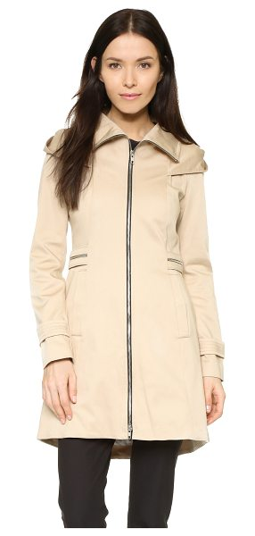 Soia & Kyo Maely coat in sand - A high collar and oversized hood lend a rain ready...