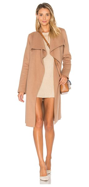Soia & Kyo Oxana Coat in beige - 53% wool 39% poly 4% rayon 4% other fibers. Dry clean...