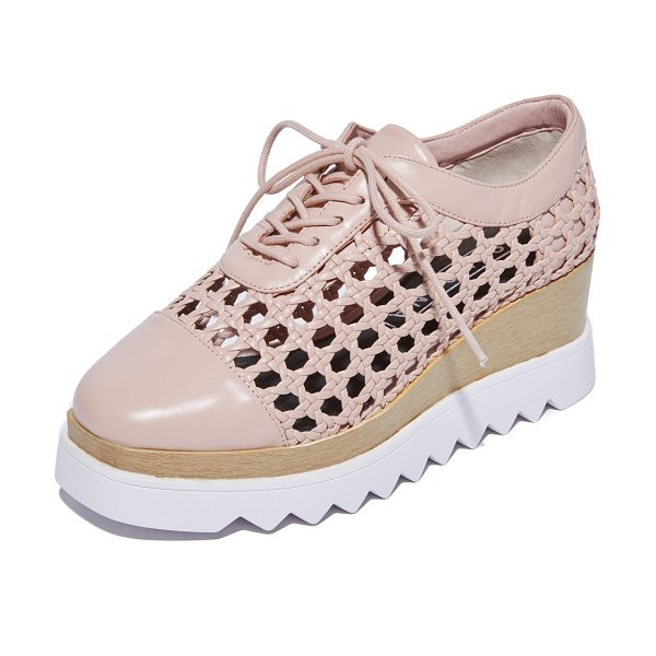 Sol Sana fremont wedge oxfords in blush - A zigzag foam platform adds a sporty touch to these...