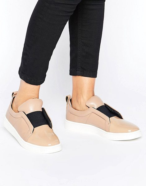 SOL SANA Mickey Nude Patent Leather Slip On Sneakers - Shoes by Sol Sana, Patent leather upper, Elasticated...