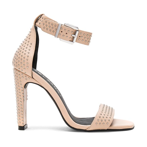 SOL SANA Page Heel in natural & silver studs - Leather upper with man made sole. Ankle strap with...
