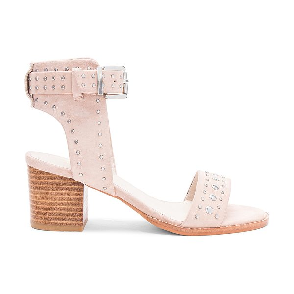 "Sol Sana Porter Heel in beige - ""Suede upper with man made sole. Ankle strap with buckle..."