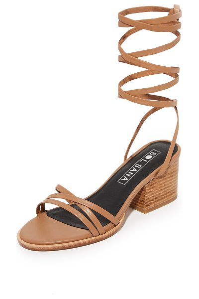 Sol Sana tabitha heel sandals in tan