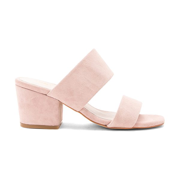 "Sol Sana Tina Mule in blush - ""Suede upper with man made sole. Slip-on styling. Heel..."