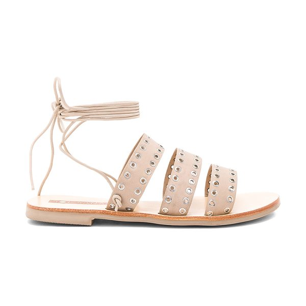 Sol Sana Union Sandal in ecru - Leather upper with rubber sole. Wrap ankle with tie...