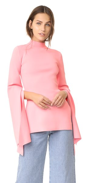 SOLACE London adelia knit top in pink - This fitted, double-knit Solace London top is styled...