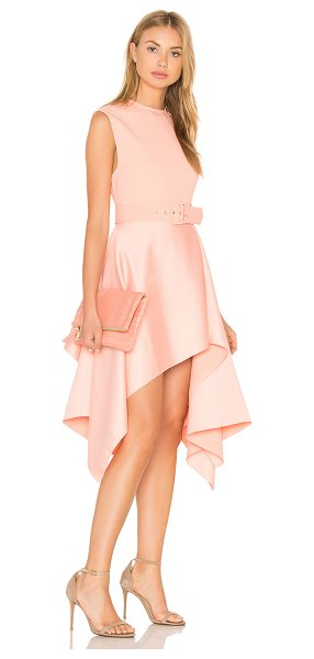 SOLACE LONDON Maya Dress in pink - 100% poly. Dry clean only. Unlined. Back hidden zipper...