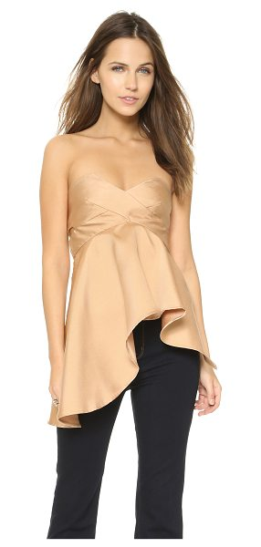 SOLACE London Missy top in nude