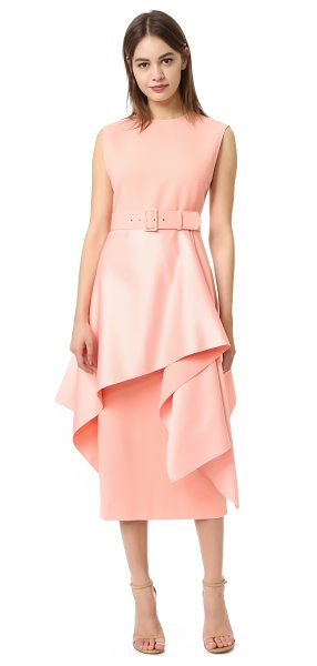 SOLACE London poppy dress in putty - A vintage-inspired, belted cocktail dress by Solace...