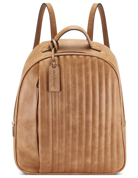 Sole Society alain faux leather backpack in brown