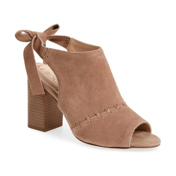 Sole Society albany slingback sandal in night taupe - A simple cross-stitched seam adds texture and interest...
