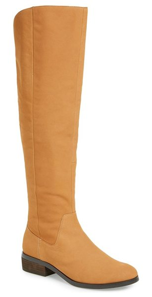 Sole Society 'andie' over the knee boot in cognac leather - A clean-cut leather over-the-knee punctuates your street...